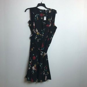 City Chic M/18 Black Floral Fit Flare Dress X39